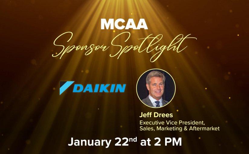 Meet Jeff Drees, Executive Vice President, Daikin Applied Americas in MCAA's Sponsor Spotlight Episode 9