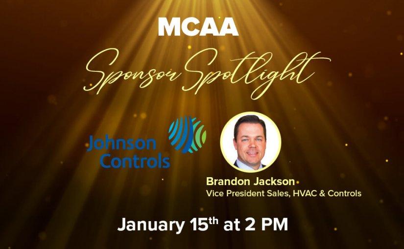 Sponsor Spotlight 8 Welcomes Brandon Jackson, Vice President, Sales, HVAC & Controls for Johnson Controls