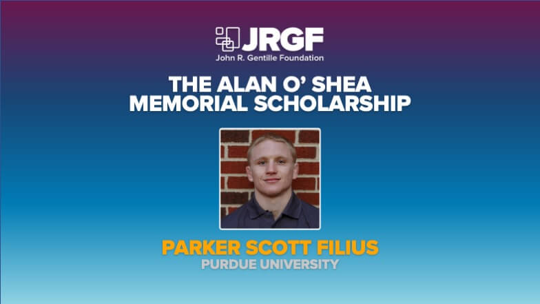 Parker Filius Receives Alan P. O'Shea Memorial Scholarship