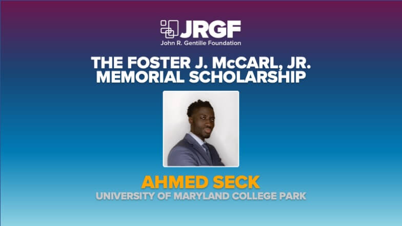 Ahmed Seck is Awarded the Foster McCarl Jr. Memorial Scholarship During MCAA's Virtual Education Conference
