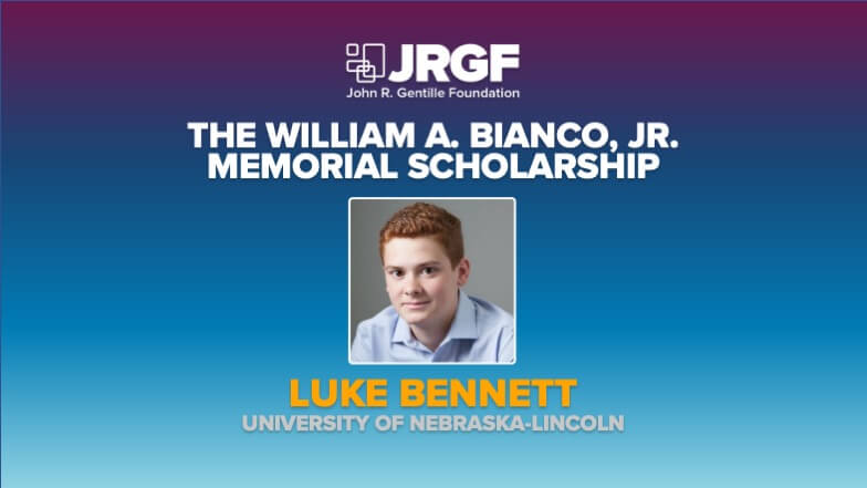 Meet Luke Bennett, MCAA's 2020 William A. Bianco Jr. Memorial Scholarship Recipient