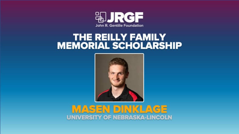 Masen Dinklage Receives Reilly Family Memorial Scholarship