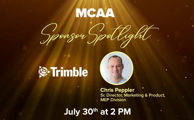 MCAA's Sponsor Spotlight #25 Welcomes Chris Peppler from Trimble