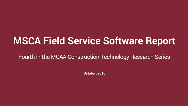 Now Available! MSCA's Insights into Field Service Software Webinar
