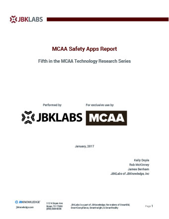 MCAA Safety Apps Report