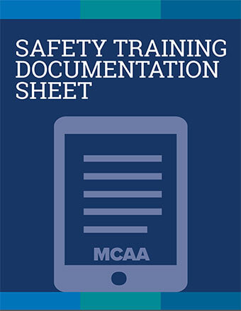 Excavation Safety for Mechanical Construction Safety Training Documentation Sheet