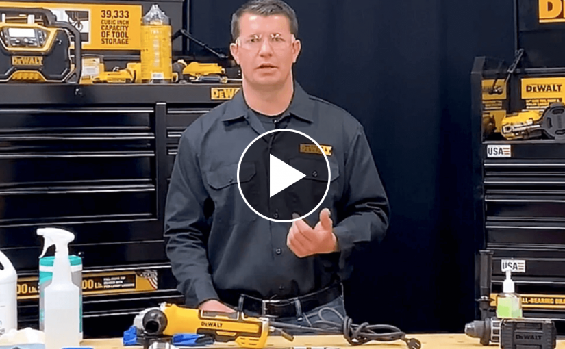 DeWALT COVID Tool Cleaning Guides