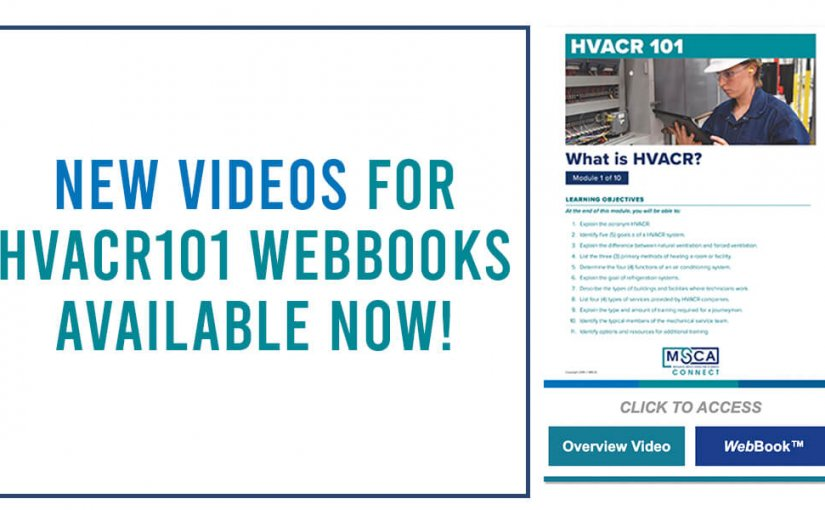 Updated Videos for HVACR101 WebBook Series Are Now Available