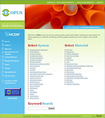 Online Piping and Usage Specification (OPUS)