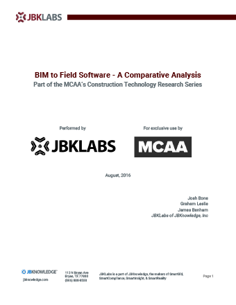 BIM to Field Software – A Comparative Analysis