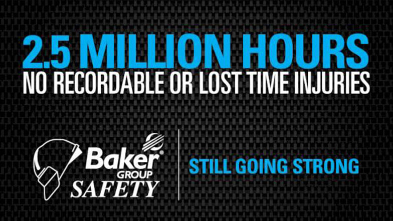Baker Group Achieves 2.5 Million Hours Without Injury
