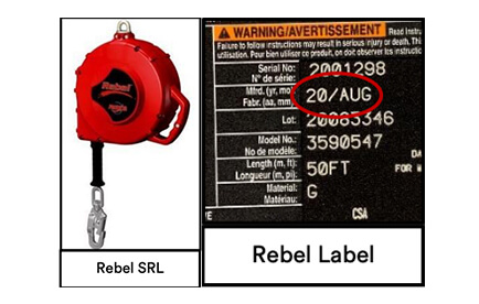 3M™ PROTECTA® Rebel Self Retracting Lifelines – Pre-Use Inspections Required