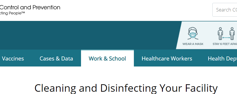CDC Alters Guidelines on Facility Cleaning & Disinfection for COVID-19