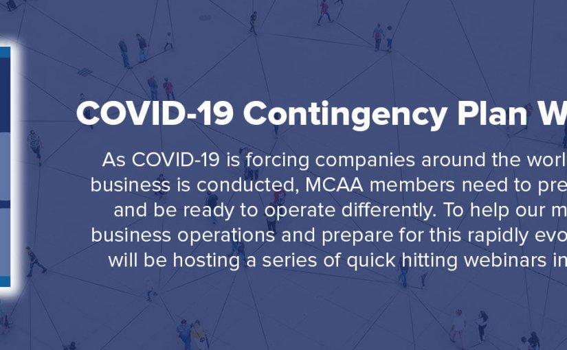 MCAA COVID-19 Contingency Plan Webinar Series