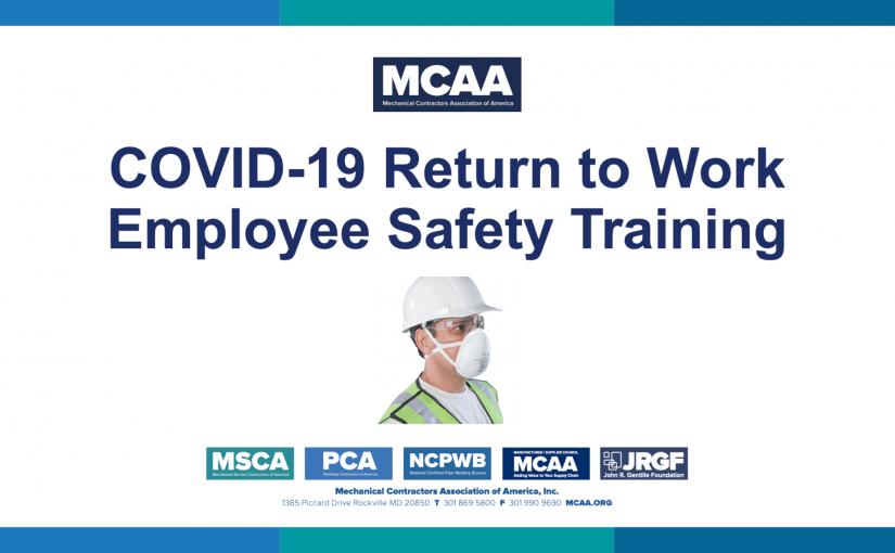 MCAA COVID-19 Return to Work Employee Safety Training