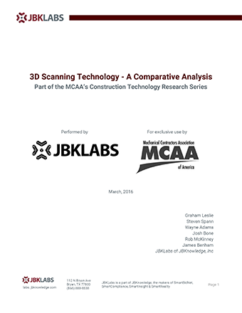 Construction Technology Research Report: 3D Scanning