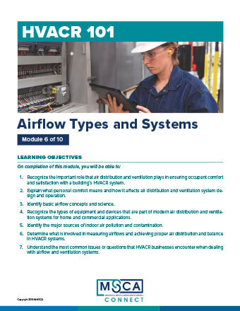 HVACR 101 Workbook Module 6 – Airflow Types and Systems
