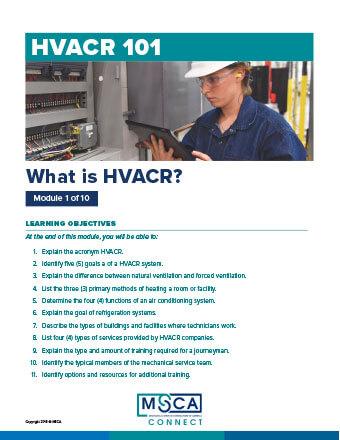 HVACR 101 Workbook Module 1 – What is HVACR?