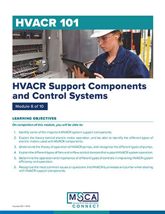 HVACR 101 Workbook Module 8 – HVACR Support Components and Control Systems