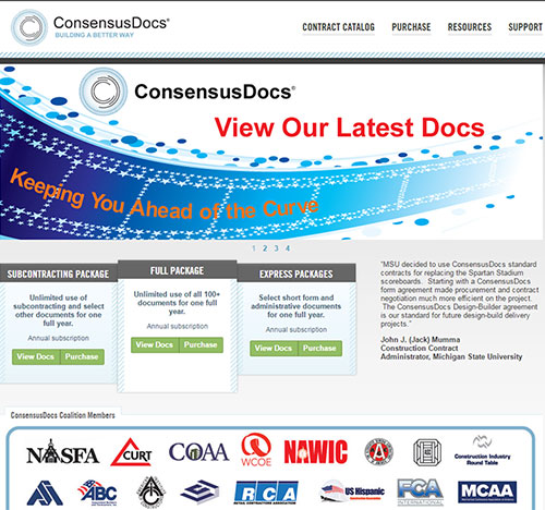 MCAA's ConsensusDOCS Discount Code Has Changed