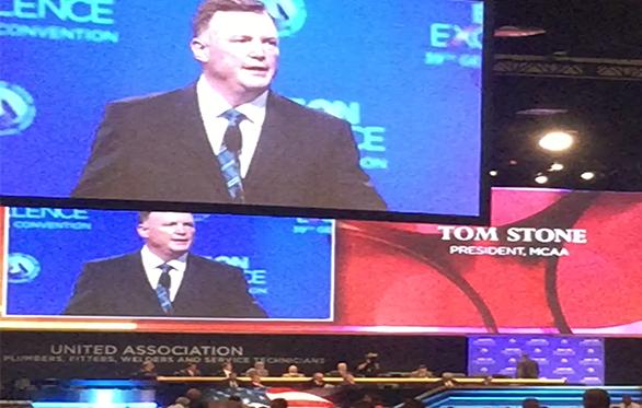 President Tom Stone Addresses UA General Convention