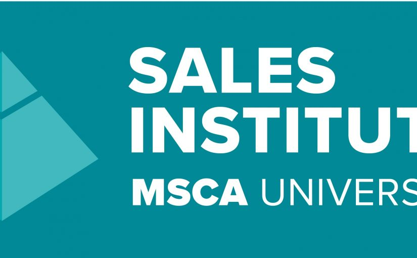 Announcing MSCA Sales Institute Program Schedule for 2018!