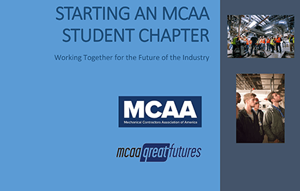 MCAA's New Brochure Can Help You Start a Student Chapter