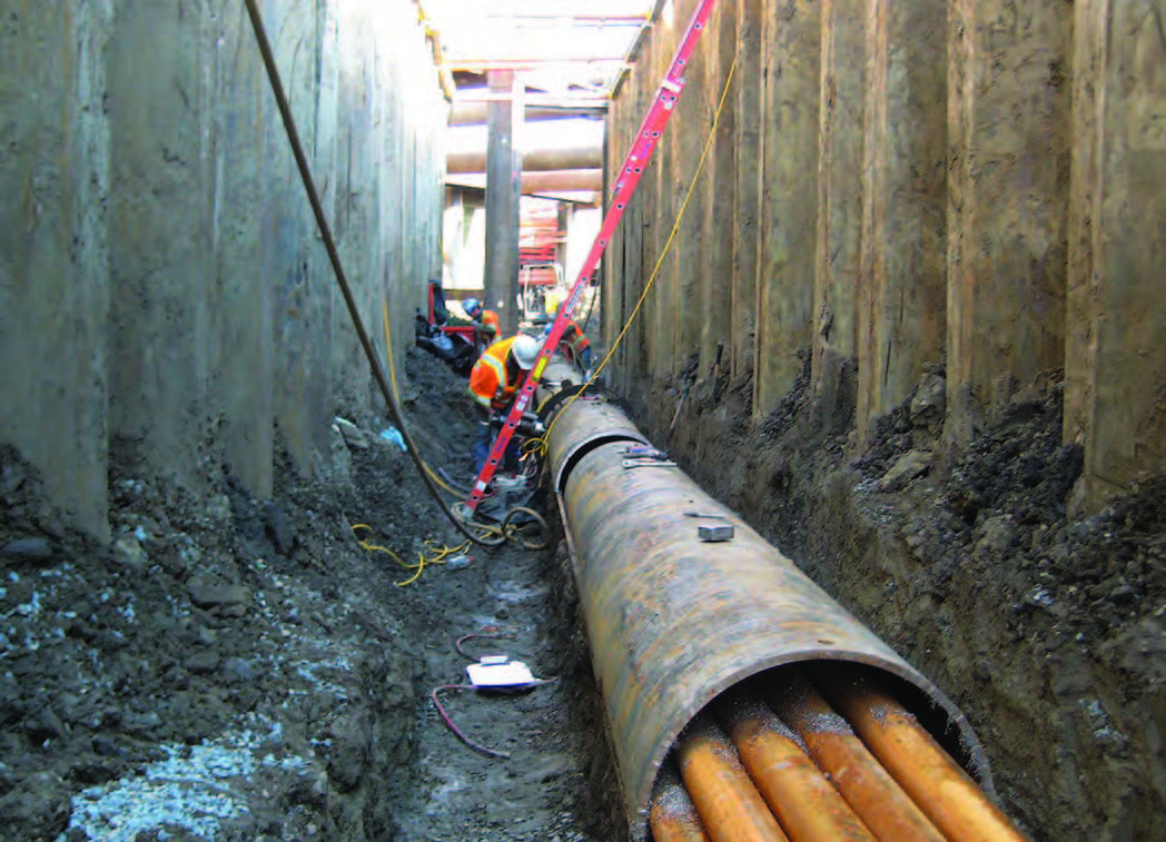 Tri Tool's customized machinery allowed workers to cut away sections of buried casing without damaging the communication cables inside. This approach meant cables could be relocated, saving months of effort that would have been required to lay new conduits and cables.