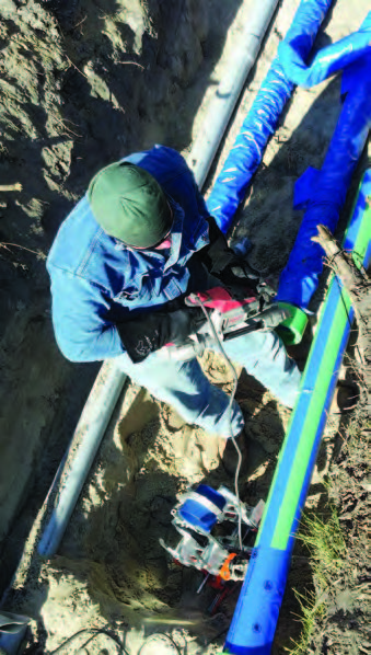 """John E. Green found Aquatherm Blue Pipe to be """"a great fit"""" for upgrading the piping at the University of Detroit Jesuit High School and Academy because it was easier and faster to install than steel or welded pipe, allowing them to save time on this rush job."""