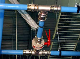 "Unlike traditional copper piping, Transair does not require any brazing or purge gases, eliminating the need for that added labor expense for the Nypro retrofit. ""One man can install most of the pipe alone, and the fittings save quite a bit of labor,"" said Mac Lynch, president of Lynch."