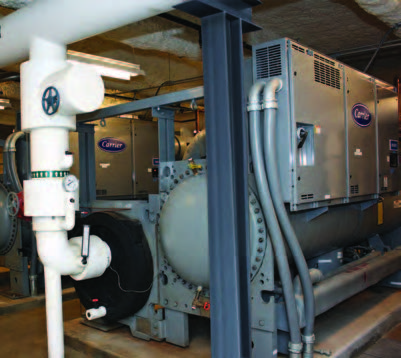 Carrier installed an i-Vu Pro web-based user interface to integrate new Carrier AquaEdge 23XRV water-cooled chillers with ancillary equipment and the existing BACnet Building Automation System at Shore Medical Center, which saves the engineering staff both time and money.