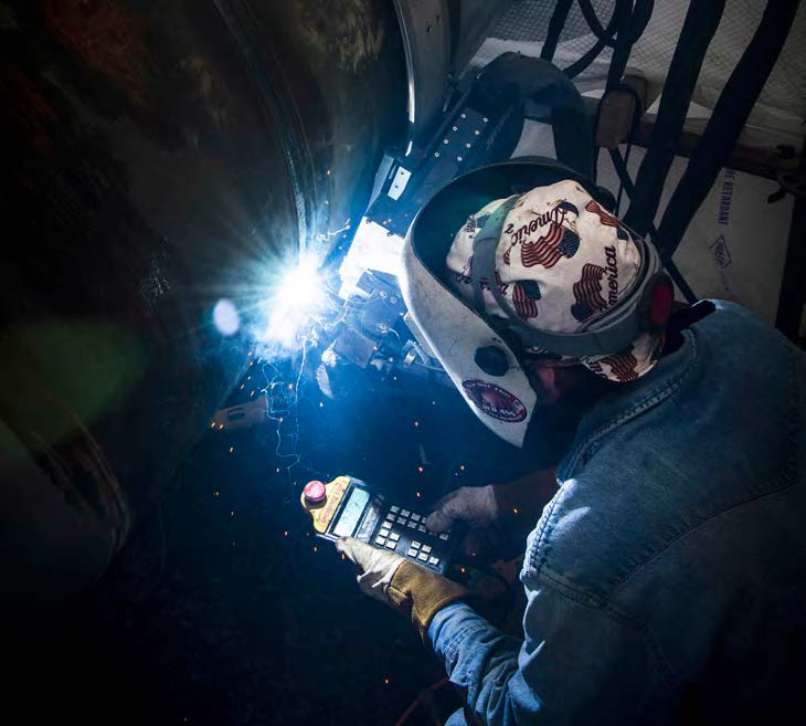 Using Tri Tool's AdaptARC system increased Sauer Group's productivity 300 percent over traditional stick welding, saving the contractor two to three shifts of welding time.