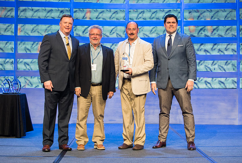 Ceroni Piping Company of Belvidere, Illinois, received an MCAA/CNA Safety Award in the 100,000 work hours and under category.