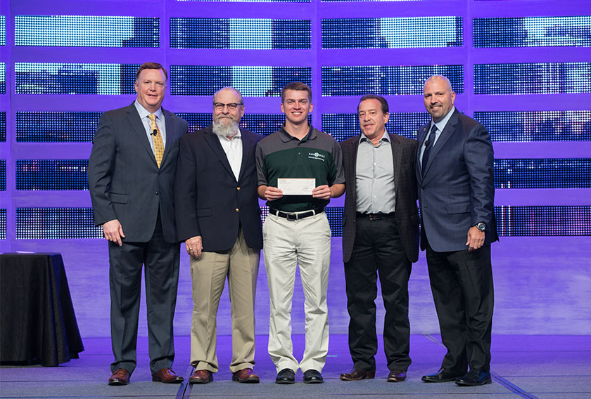 Robert Ryan Schneider, a junior at Colorado State University took home The William A. Bianco, Jr. Memorial Scholarship sponsored by Kinetics of Fremont, California.