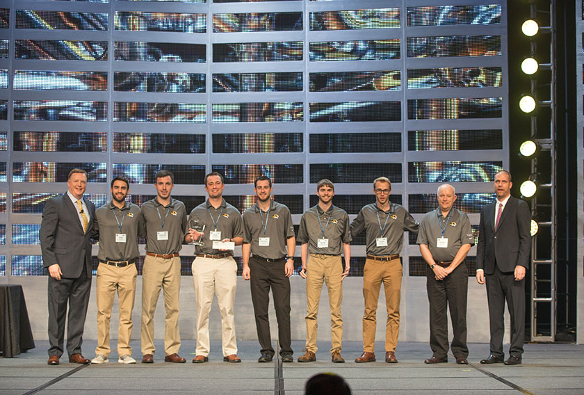 The University of Missouri – Columbia Student Chapter of the Mechanical Contractors Association of America received first prize and $10,000 for their work in this year's Student Chapter Competition.