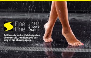 Jay R. Smith Mfg. Co. Fine-Line Linear Shower Drains Banner Virtual Trade Show