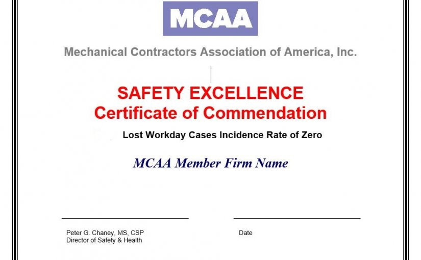 MCAA Safety Excellence Certificates of Commendation Application Deadline Ends COB Tomorrow, Tuesday, March 16, 2021