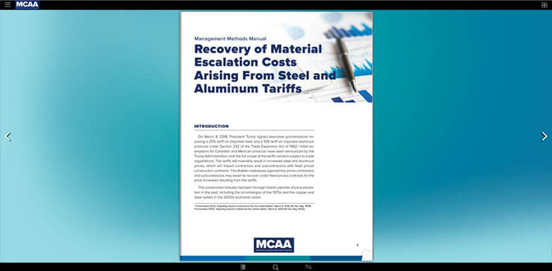 Mcaa support and education for mechanical contractors nationwide concerned about the impact of the new tariffs on your fixed price contracts read this bulletin fandeluxe Choice Image