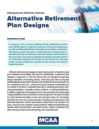 MCAA Releases In-Depth Risk Analysis of Alternative Retirement Plan Designs WebBook