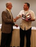 Aaron Hall was recognized for his service on the NCPWB Board of Trustees.