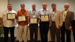 Five individuals were recognized for attending five consecutive NCPWB Technical Conferences.