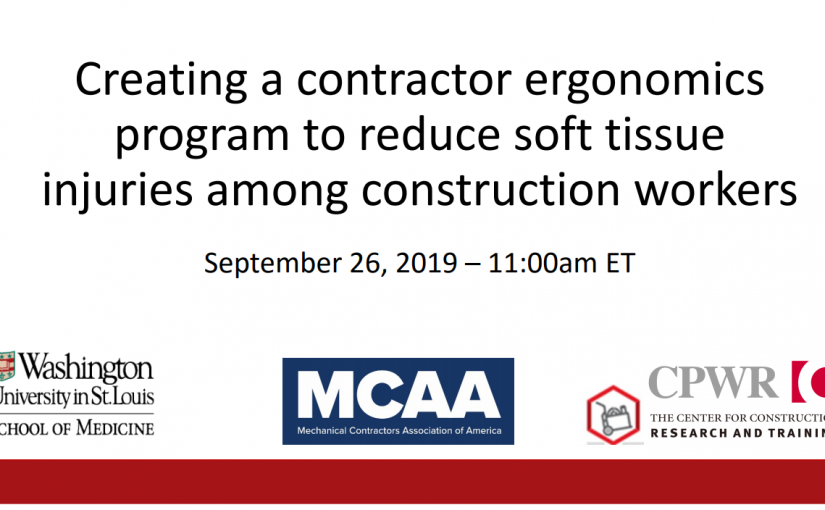 Learn How to Establish the Best Possible Ergonomics Program for Your Company. Join Our September 26 Webinar