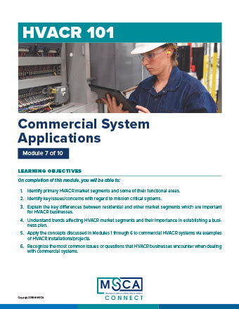 HVACR 101 Workbook Module 7 – Commercial System Applications