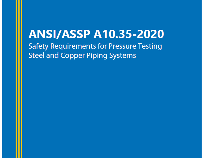 MCAA and the UA Led Development of Industry Consensus Standard on Pressure Testing Safety