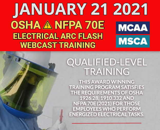 The Next Qualified Level Arc Flash Safety Training Webinars Scheduled for January 21, 2021