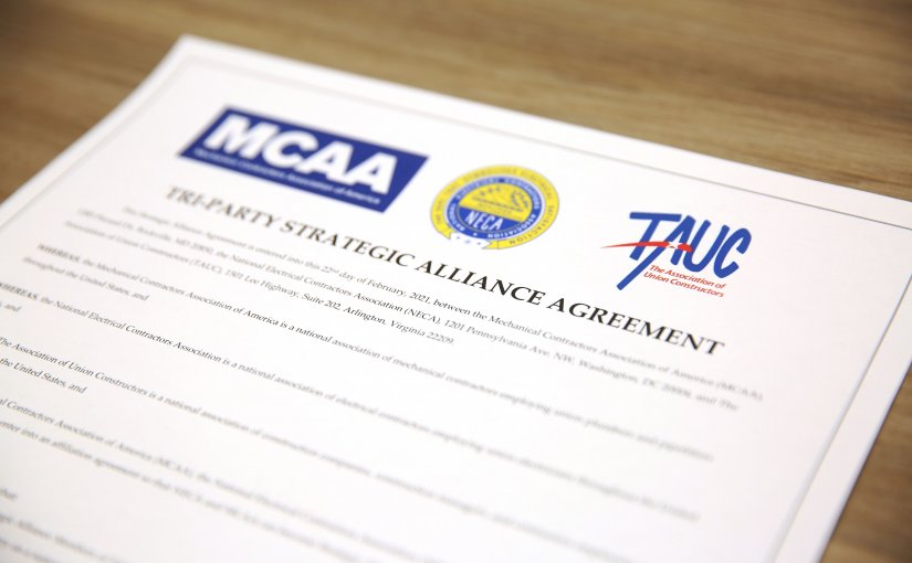 MCAA, NECA and TAUC Sign Strategic Alliance Agreement to Collaborate and Advance the Construction and Maintenance Industry