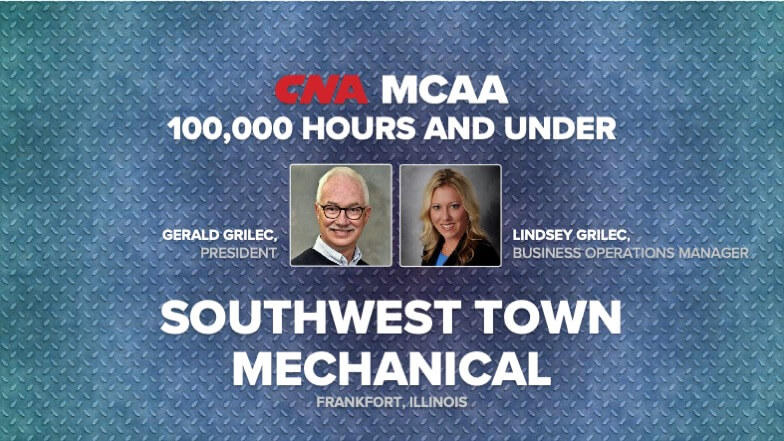Southwest Town Mechanical Earns Top MCAA/CNA Safety Award