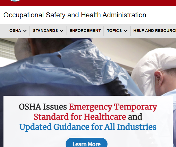 OSHA Releases ETS on COVID-19 and Healthcare Facility Ventilation Requirements