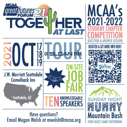 A Lot Awaits MCAA Student Chapters At MCAA's 2021 GreatFutures Forum – Register By September 3rd To Join!